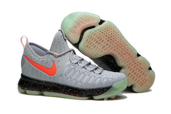 KD 9 Basketball Shoes Cool Grey/Red Black